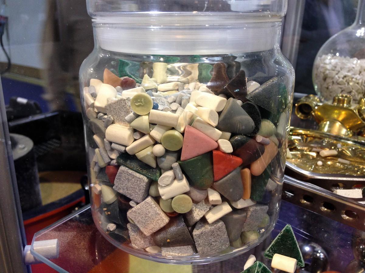 Галтовочные тела различного размера из различных материалов