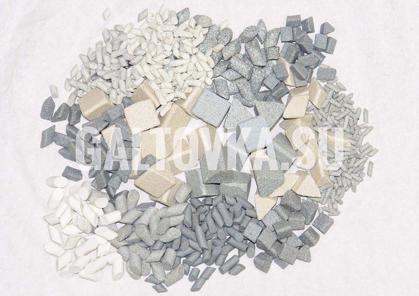 Галтовочные тела на керамической основе